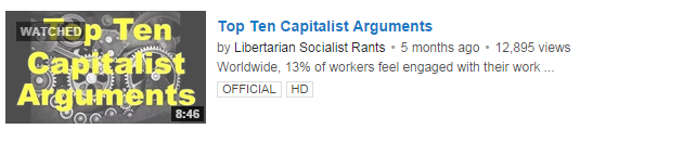 Rebuttal to: Top Ten Capitalist Arguments debunked